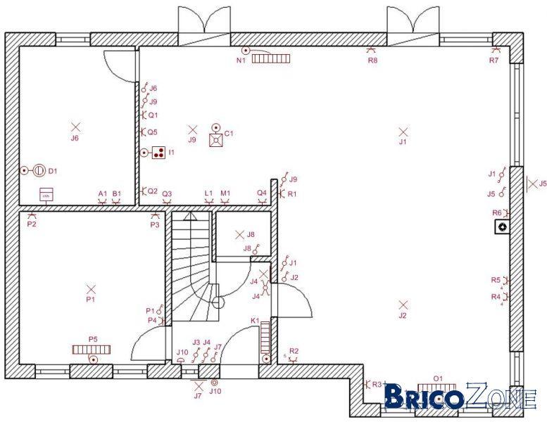 Sch mas unifilaire position panneaux photovolta ques for Consommation electrique d une maison