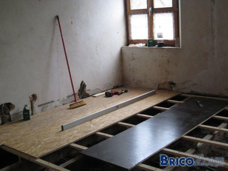 mettre mon plancher de niveau et le consolider. Black Bedroom Furniture Sets. Home Design Ideas