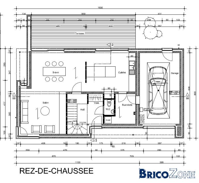 Am�nagement ext�rieur : Entr�e de garage + divers