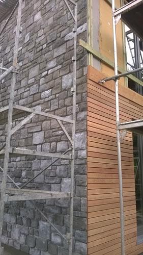 plaquettes de parement en pierres mur ext rieur. Black Bedroom Furniture Sets. Home Design Ideas