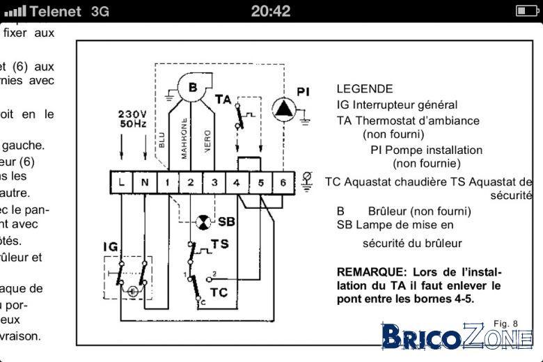 schema branchement thermostat sans fil sur circulateur. Black Bedroom Furniture Sets. Home Design Ideas