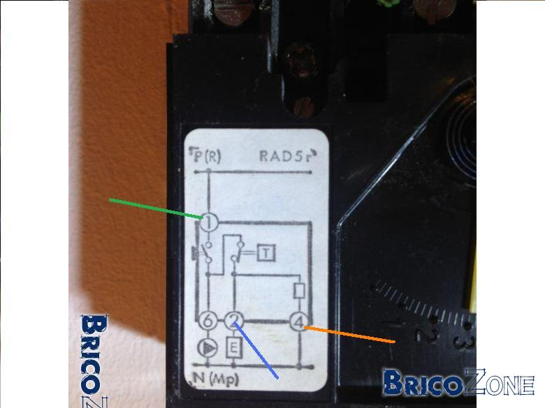Remplacement thermostat 220v