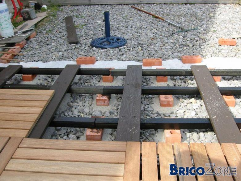 Dalle De Bois Brico Depot : ballast j'ai imagin? un lattage pour supporter les dalles 50×50