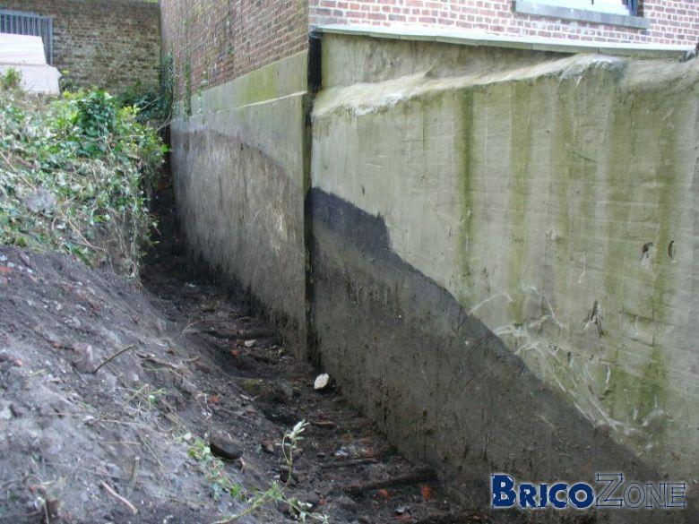 Mur enterr� et fondation: pb d'acc�s