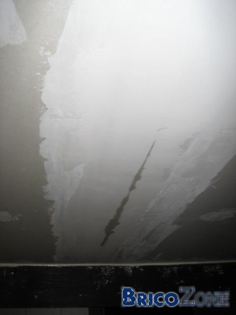 Infiltration d'eau sur nouvelles plaques de Gyproc