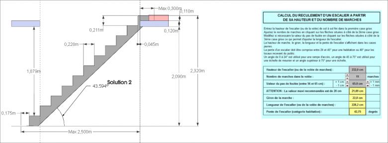 Calcul escalier 1 4 tournant - Dimension escalier droit ...