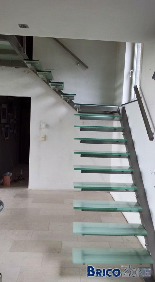 Fabrication escalier quart tournant droite avec marches rayonnantes page 2 - Escalier limon lateral ...