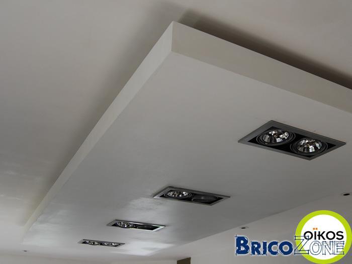 Faux plafond éclairage indirect