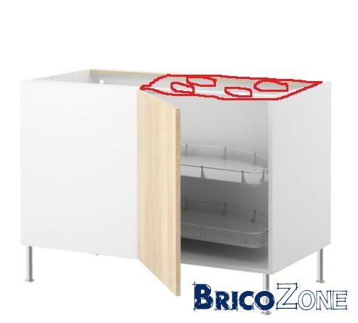 Ikea - taque de cuisson dans meuble angle coulissant