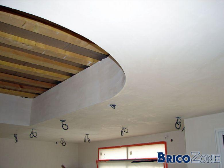 realiser un faux plafonds arrondi. Black Bedroom Furniture Sets. Home Design Ideas