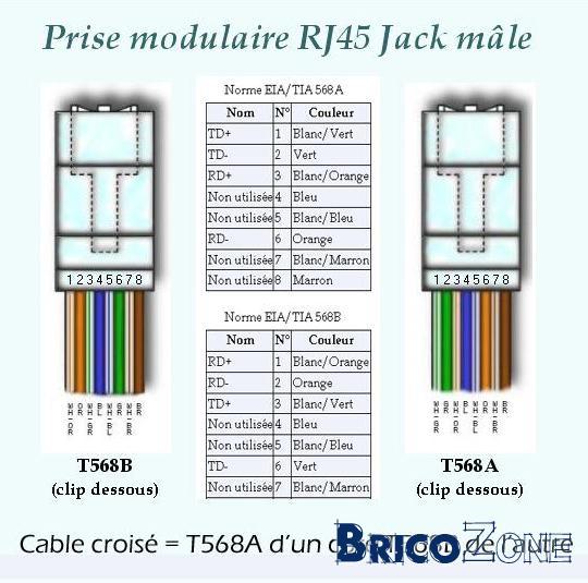 Schema Cablaggio Rj45 : Module rj chez niko