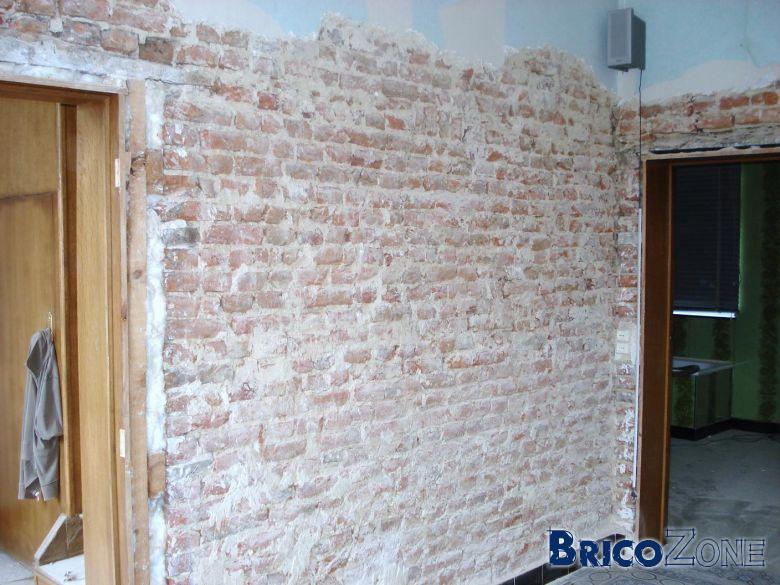 Mur int rieur en brique for Construction mur interieur