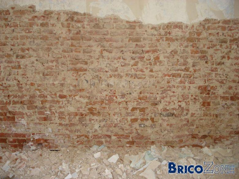 Mur int rieur en brique for Mur interieur en volige