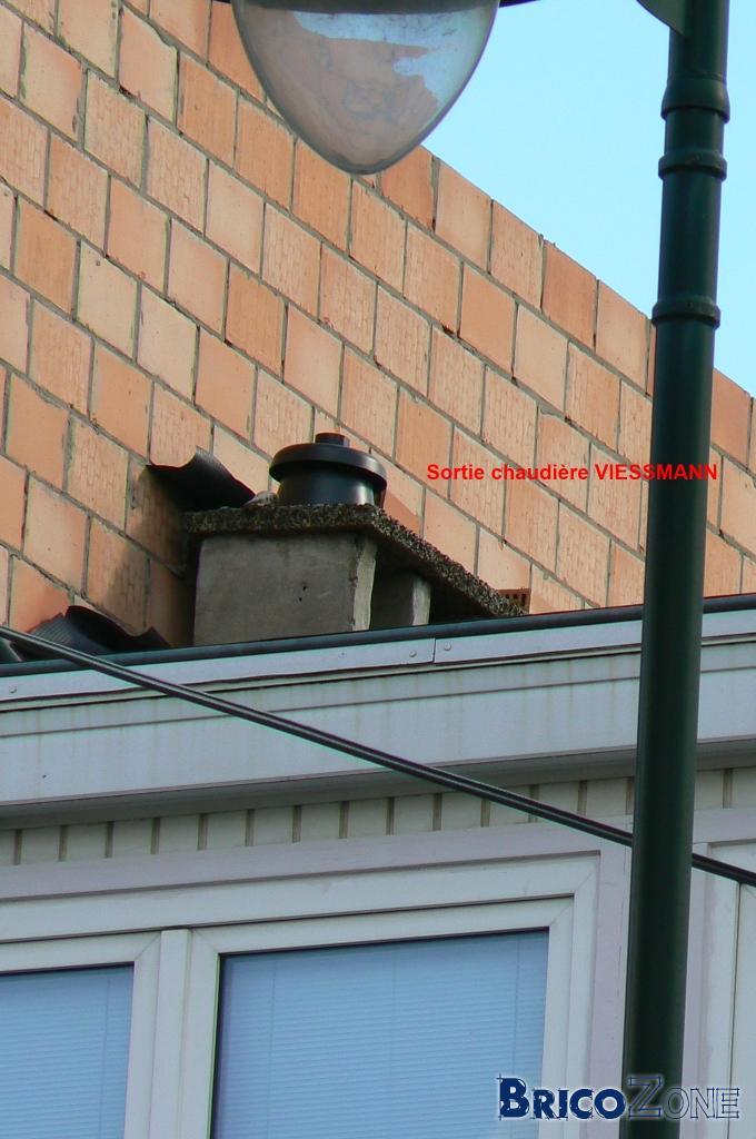 Rehausser la chemin e et le tubage pour chaudi re for Chaudiere ventouse ou cheminee