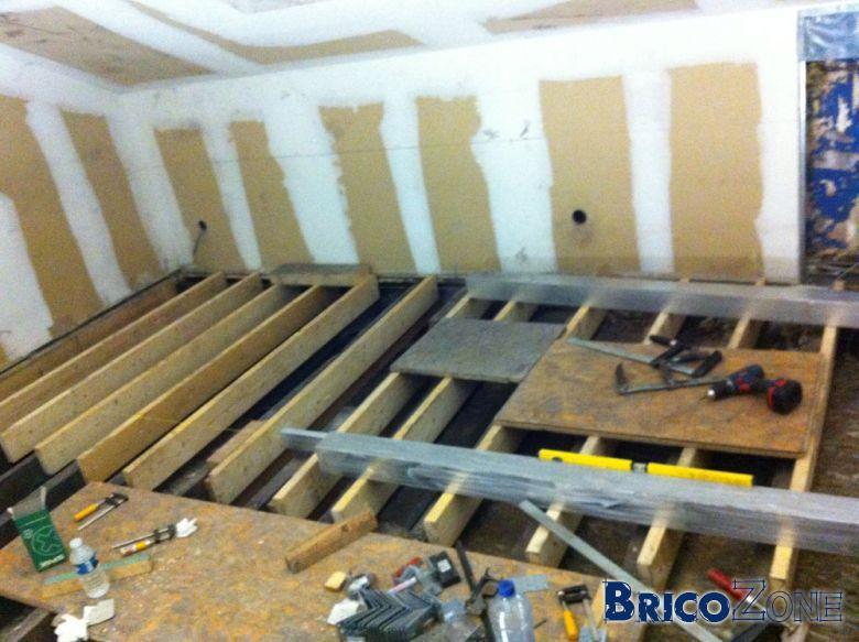 plancher galiser avec volige chainage isolation osb3. Black Bedroom Furniture Sets. Home Design Ideas