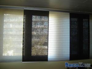 Stores panneaux baie vitr e au soleil for Rideau pour baie coulissante