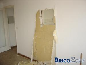 Découpe mur pour cuisine ouverte