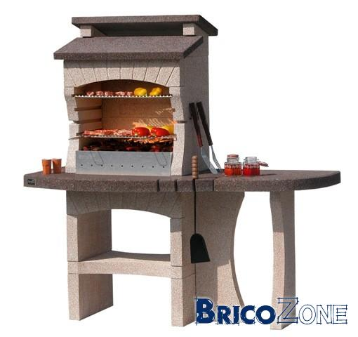 Cr ation d 39 un barbecue fabrice renovation of beton - Barbecue beton cellulaire exterieur ...