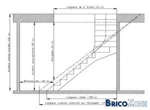 calcul d'un escalier bois 1/4 tournant avec palier