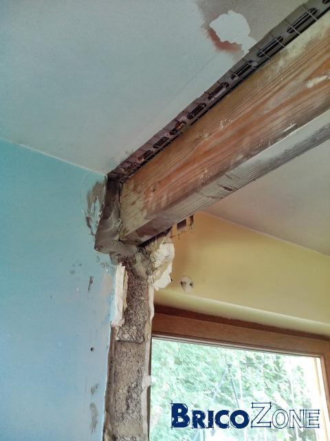 Finition après abattage d'un mur entre deux chambres