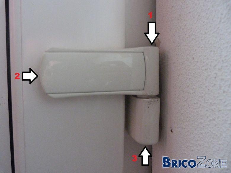 Réglage porte d'entrée en PVC