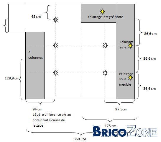combien de spots led au m2 combien de spots par pi ce comment disposer des spots au plafond. Black Bedroom Furniture Sets. Home Design Ideas