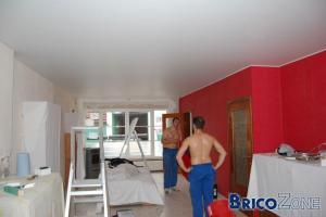 Réalisation d'un nouveau plafond