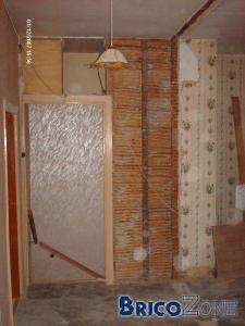 paillottage - plafonnages anciens - comment boucher des trous