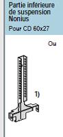 Quels profils Metal Stud pour un plafond de 360 cm sur 832 cm?
