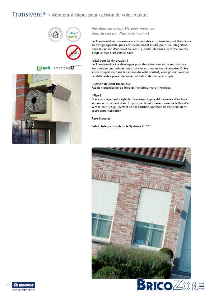VMC (syst�me C) : a�ration pour chassis existants