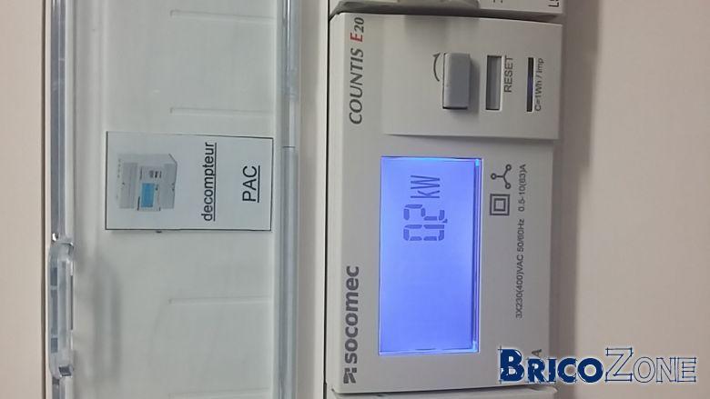Conseil : compteur énergie PAC