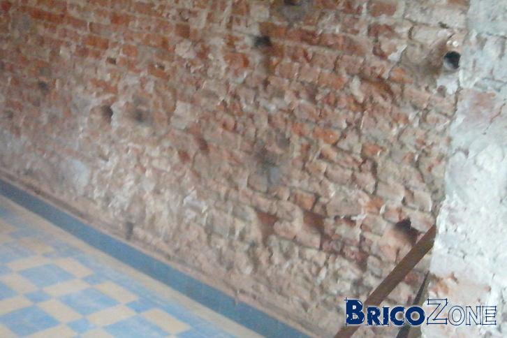 Renover un mur int�rieur en brique abim�