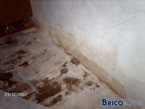 laine de roche sur murs intérieurs et humidité