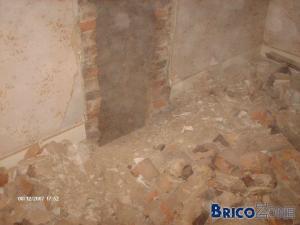abattage, condamnation et rebouchage d'une cheminée