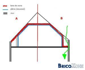 Vide entre la sous toiture et l 39 isolation - Detruire un mur porteur ...