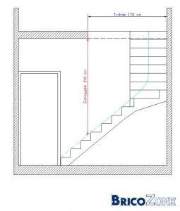 escalier 1/4 tournant � gauche