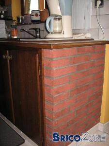 meubles cuisines en brique