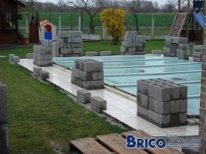 construction abris de piscine ,c'est parti !