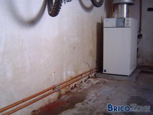 humidité dans mur