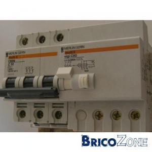 Disjoncteur diff rentiel triphas - Branchement disjoncteur differentiel ...