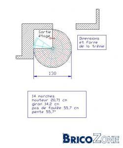 Escalier hélicoïdal ou echelle de meunier