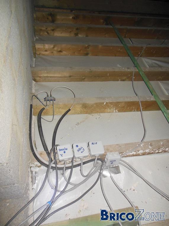 isolation plancher du grenier passage c bles lectriques. Black Bedroom Furniture Sets. Home Design Ideas