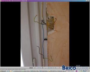 Pose d'interrupteur pour store electrique