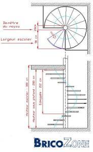 escalier helicoidal autocad