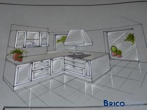 Quel espace entre meuble de cuisine et ilot central