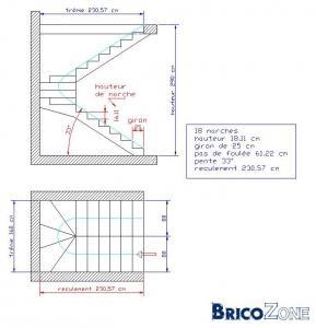 Calcul d'escalier avec contraintes