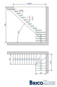 escalier quart tournant