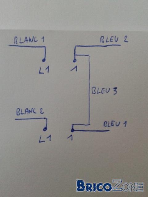 Double interrupteurs unipolaire LED