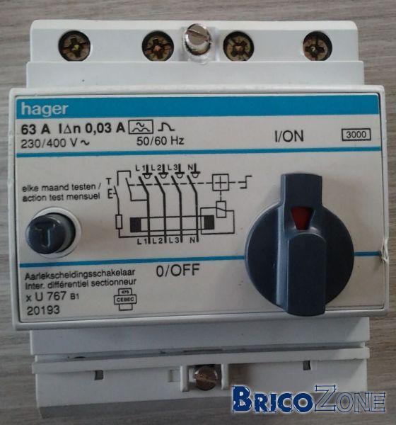 remplacement disjoncteur différentiel - Disjoncteur Differentiel Pour Salle De Bain