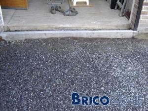 poser un seuil porte de garage?